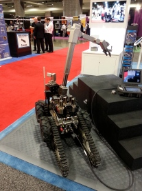 Cobham showed their powerful UGV with several payloads